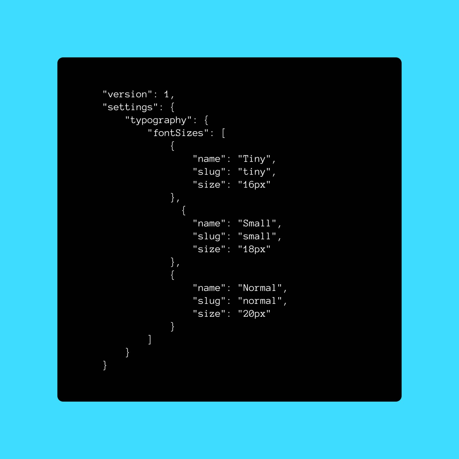 Theme.json and Font Sizes